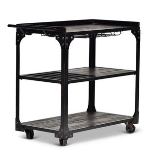Sherlock Black Kitchen Cart