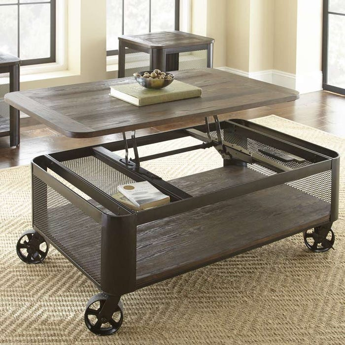 Steve Silver Barrow Brown Lift Top Tail Table Weekends Only Furniture