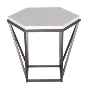 Corvus Marble/Iron End Table