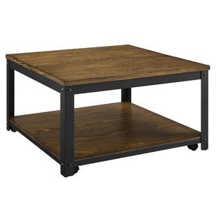 Logan Metal/Wood Square Lift Top Coffee Table