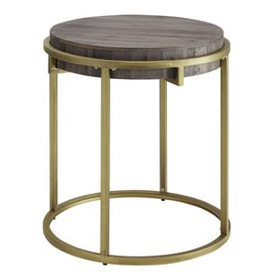 Samuel End Table Mocha and Gold