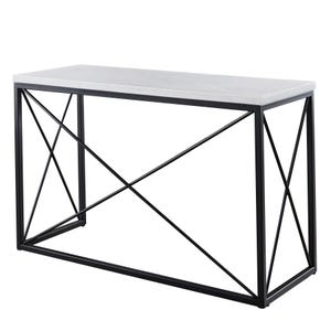 Skyler White Marble/Metal Rectangle Sofa Table