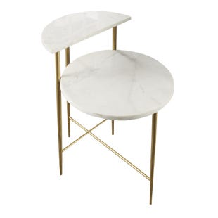 Patna White Marble Top Side Table
