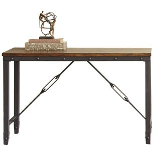 Ashford Brown and Metal Sofa Table