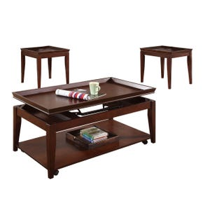Clemens Medium Brown 3 Pack Lift Top Tables