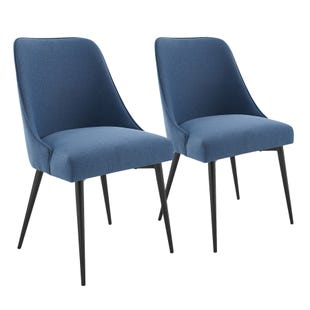 Colfax Set of 2 Navy Dining Chairs