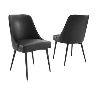 Colfax Set of 2 Black Dining Chairs
