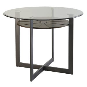 Steve Silver GT48 Glass/Metal Tempered Glass Table