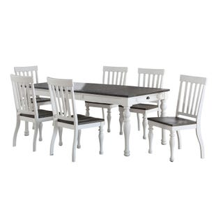 Joanna 7 Piece Dining Set Ivory and Mocha