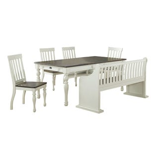 Joanna 6 Piece Dining Set Ivory and Mocha