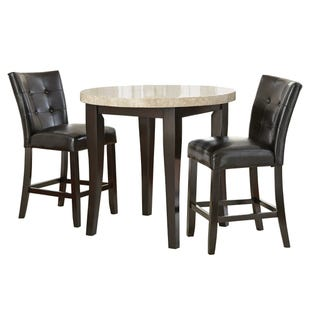 Monarch Marble/Dark Cherry 3 Piece Counter Set