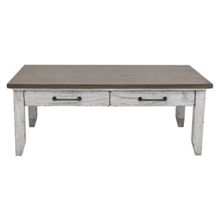 Bear Creek White Washed Coffee Table