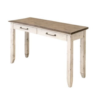 Bear Creek White Washed Sofa Table