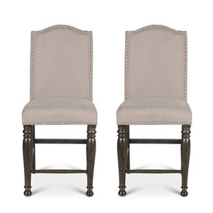 Steve Silver Caswell Gray Set of 2 Counter Chairs