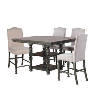 Caswell Gray 5 Piece Square Counter Height Dining Set