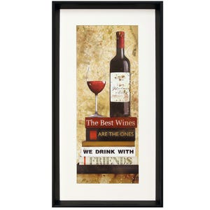 Wine With Friends Framed Print Wall Art
