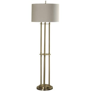 Meg Brass 3 Post Traditional Floor Lamp