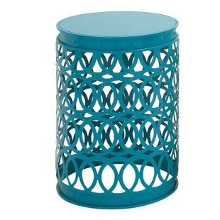 Ava Blue Large Round Indoor/Outdoor Accent Table