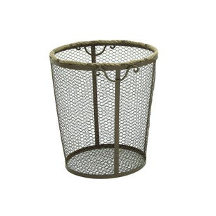 Large Metal Rope Basket