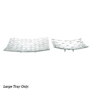 Silver Basketweave Large Tray