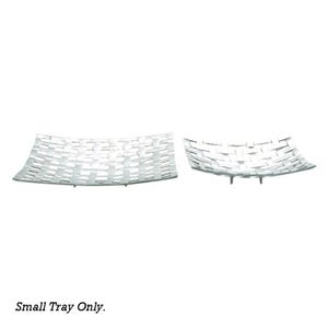 Silver Basketweave Small Tray