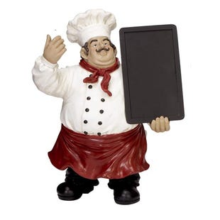 Chef With Chalkboard Sculpture