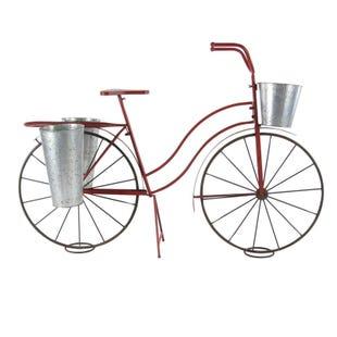 Scarlett Red Metal Bicycle Plant Stand