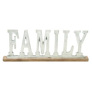 Family Metal Table Art