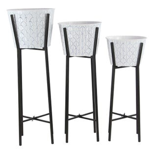 Loft White Set of 3 Planters