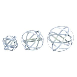 3 Piece S/M/L silver Decosphere Set