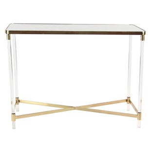 Acrylic Gold Glam Accent Table