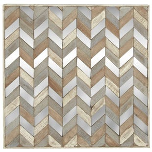 Zoey Wood & Mirror Chevron Wall Decor