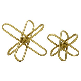 2 Piece M/L Gold Decosphere Set