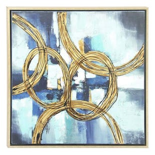 Abstract Rings of Blue Canvas Art