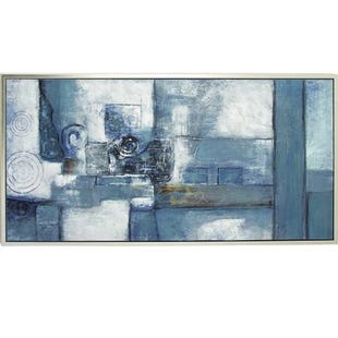 Blue Abstract Framed Art