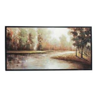 Peaceful Forest Framed Canvas