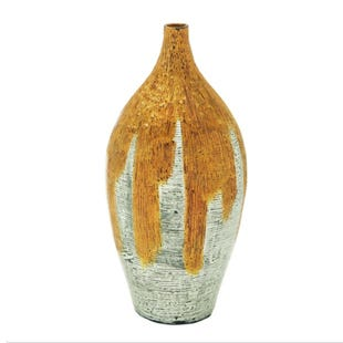 Amber Lacquer Bamboo Vase