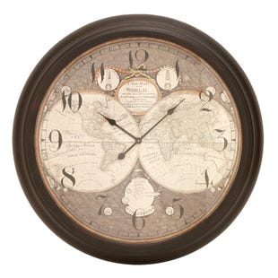 New World Map Clock