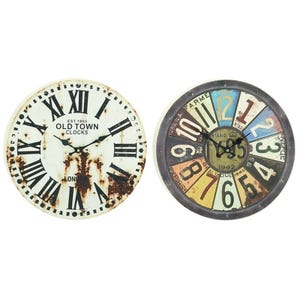 Assorted Rustic Distressed Metal Wall Clocks