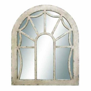 Window Pane Wood Mirror