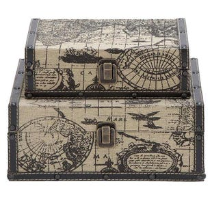 World Atlas 2 Piece Storage Set