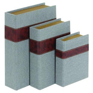 Fabric 3 Piece Book Box Set