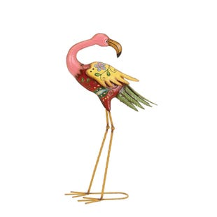 Flamingo Medium Metal Lawn Sculpture