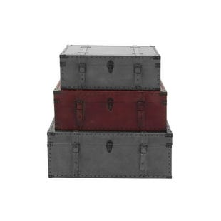 Medium Leather Trunk