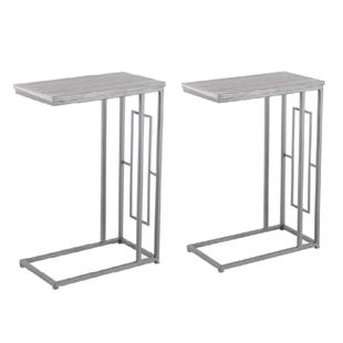 2 Piece Gray C-Accent Table Set
