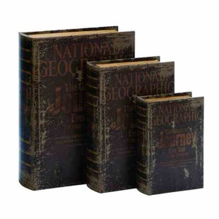 National Geographic 3 Piece Storage Book Set