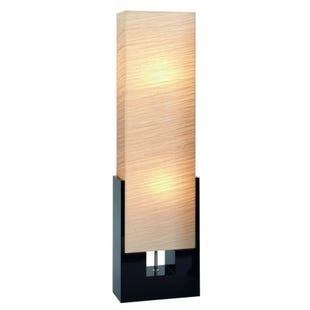 Lani Modern Black Wood Floor Lantern Lamp
