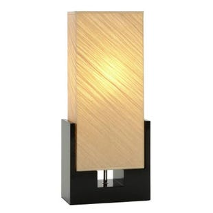 Lani Modern Black Wood Table Lantern Lamp
