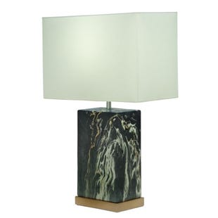 Tahani Black & Gold Marble Table Lamp