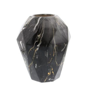 Shannon Black & Gold Marble Large Small Vase